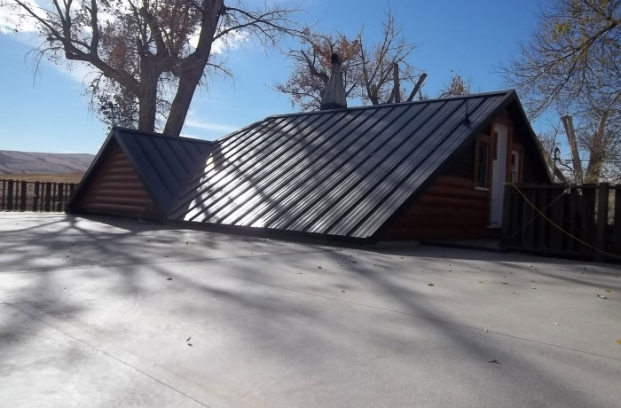 Flat Roof to Metal